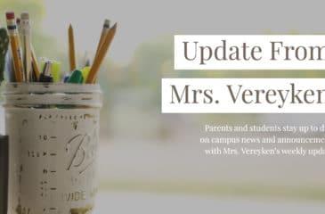 Update from Mrs. Vereyken